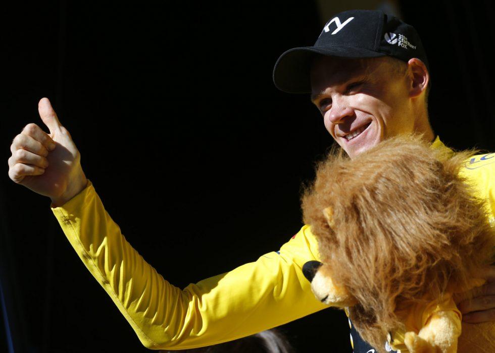 GULT: Chris Froome mistet den gule trøya etter den tolvte etappen