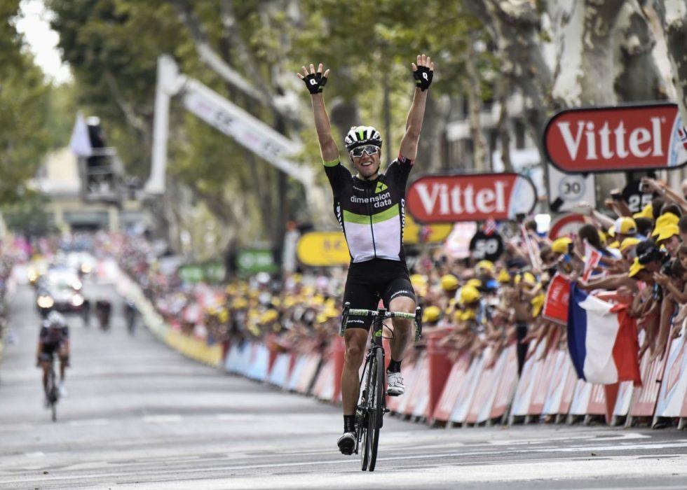 TILBAKE PÅ TOPPEN: Etappeseieren i Salon de Provence snudde alt. Nå snakkes det om Boasson Hagen som en av de største favorittene til å vinne i Paris. FOTO: AFP PHOTO / Jeff PACHOUD