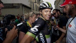 ENDELIG: Fredag tok Edvald Boasson Hagen sin tredje etappeseier i Tour de France. Den har han ventet på siden 2011. Foto: Scanpix