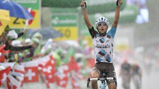 EN MANN FOR FJELLENE: Domenico Pozzovio har i en årrekke vist at han tilhører sjiktet av de aller beste klatrerne. Her vinner han etappeseier under Tour de Suisse. De neste to årene sykler han for Bahrain-Merida. FOTO: Gian Ehrenzeller/Keystone via AP