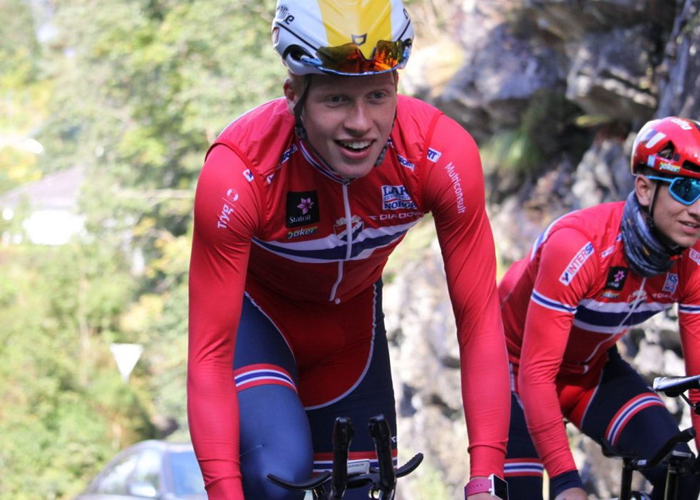 NORSK FAVORITT: Forventningene var store foran VM-tempoen til Andreas Leknessund på hjemmebane i Bergen. FOTO: Norges Cykleforbund