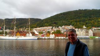 I BERGEN: Knut Knudsen er på plass i Bergen for å oppleve VM på norsk jord. FOTO: procycling.no.
