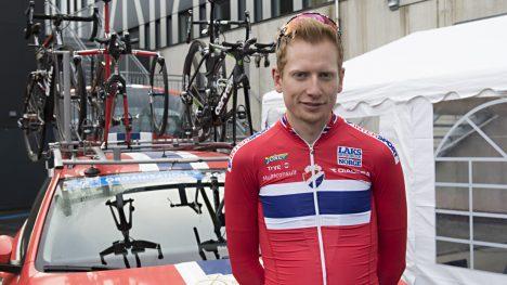 VM-KLAR: Andreas Vangstad er sammen med Edvald Boasson Hagen de to norske deltakerne i onsdagens temporitt. Foto: Marit Hommedal / NTB scanpix