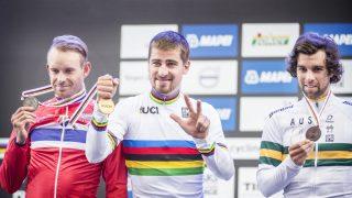 IMPONERT: Michael Matthews (t.h) er i likhet med Peter Sagan svært imponert over norske sykkeltilhengere. Foto: Hans Arne Vedlog / Dagbladet .