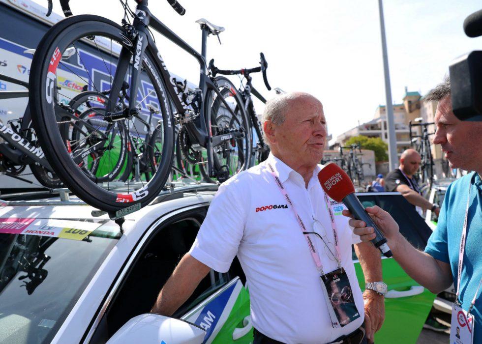 EN ULYKKE KOMMER SJELDEN ALENE: Bruno Reverberi fikk mange spørsmål fra pressen etter to positive dopingprøver i laget foran Giro d'Italia. Nå har det dukket opp en tredje dopingsak i Bardiani CSFs rekker. FOTO: Tim De Waele/TDWSPORT.COM