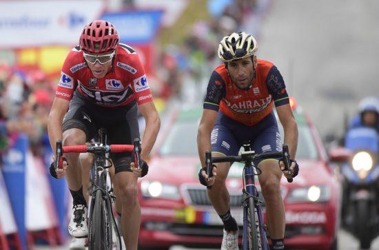 FØLER SEG SNYTT: Vincenzo Nibali kan rykke opp som vinner av Vuelta a España etter at Chris Froome testet positivt for salbutamol. Foto: AFP PHOTO / JOSE JORDAN