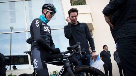 MÅ SVARE FOR SEG: Team Sky er for tiden på treningsleir på Mallorca