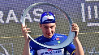 STORFAVORITTEN: Elia Viviani var den beste spurteren med i årets De Panne. Italieneren sykler for belgiske Quick Step. FOTO:.  / AFP PHOTO / GIUSEPPE CACACE
