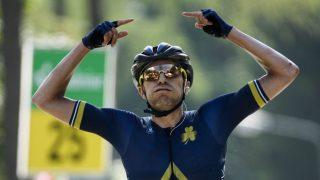 STOR SEIER: Larry Warbasse og Aqua Blue kvitterte for tilliten når de ble invitert til Tour de Suisse i fjor. Denne sesongen har ikke laget klart å klore til seg et av fripassene til de tre største etapperittene