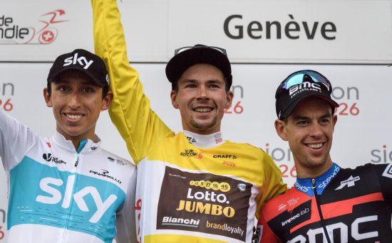 INNFRIDDE: Richie Porte (til høyre) tok tredjeplassen i Romandiet