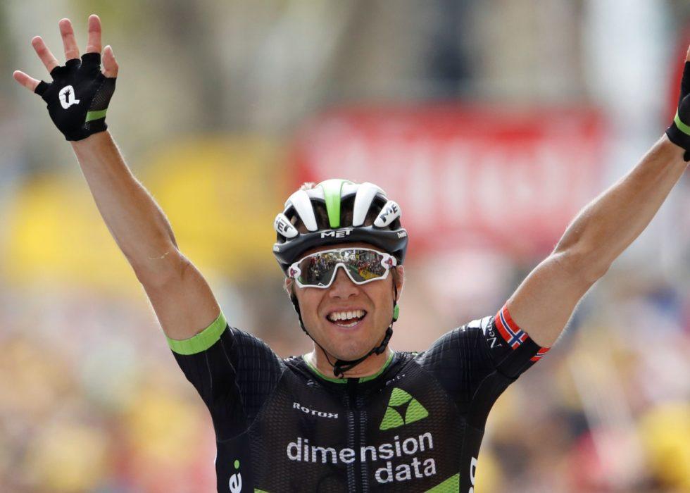 ÅRETS FØRTE: Boasson Hagen var best i Asker. Her fra en tidligere seier. Foto: REUTERS/Christian Hartmann