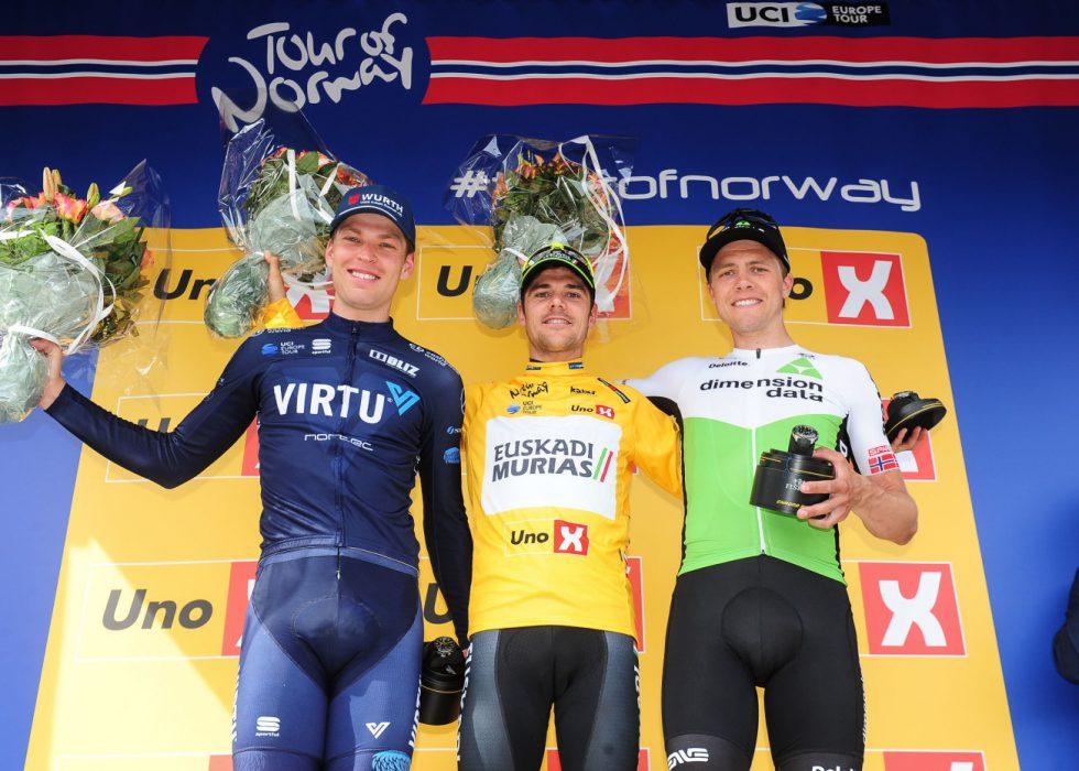JEVNT: Tre sekunder skilte Alexander Kamp og Eduard Prades i sammendraget. Edvald Boasson Hagen ble beste nordmann med sin tredjeplass