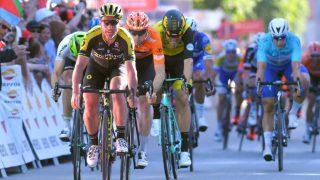 NÅDDE IKKE HELT OPP: Amund Grøndahl Jansen måtte se fire ryttere passere ham på oppløpet. Foto: TDW/GettyImages