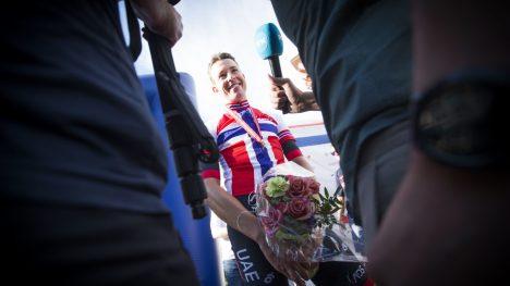 SMARTEST: Vegard Stake Laengen utnyttet overskuddet fra Giro d'Italia da han - og alliansen fra Vestlandet - tok NM-gull i Sandefjord. FOTO: Trond Teigen