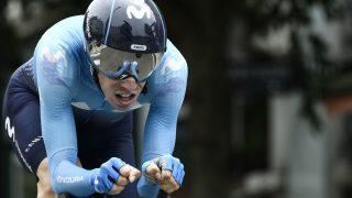 MIDLERTIDIG SUSPENDERT: Jaime Rosón var i aksjon for Movistar Team under Critérium du Dauphiné