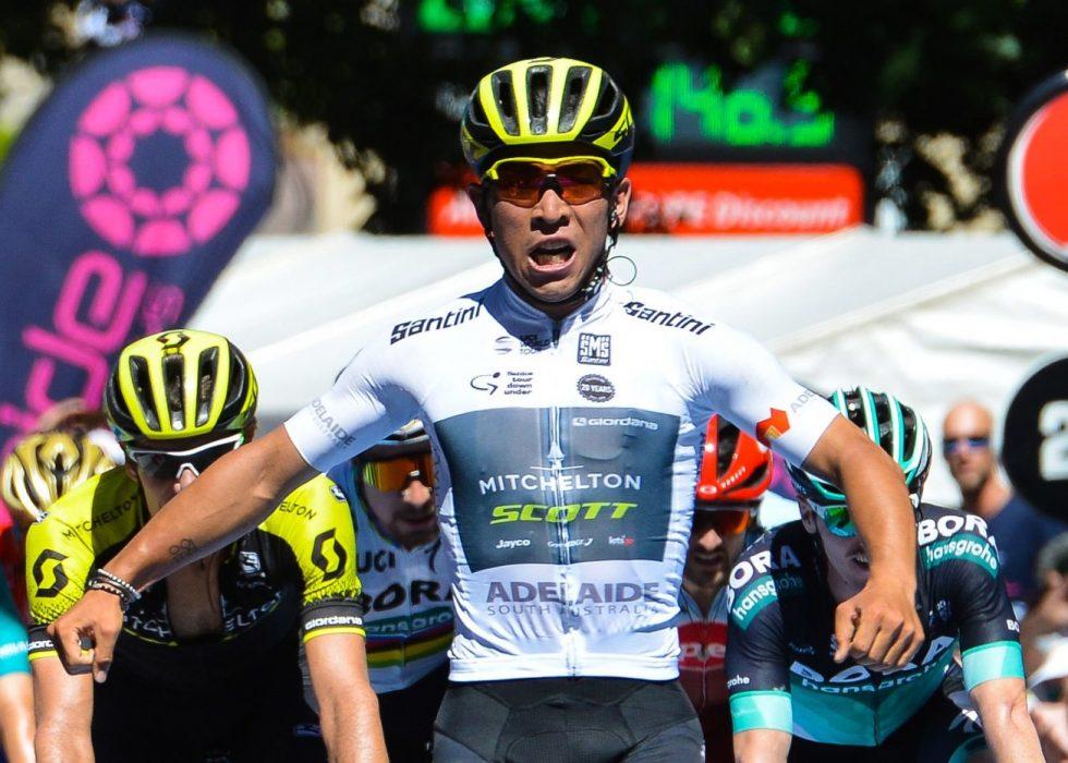 FÅR STØTTE: Alexander Kristoff føler - noe overraskende - med Caleb Ewan etter at 23-åringen ble utelatt fra Tour de France-troppen til Mitchelton-Scott. FOTO: AFP PHOTO / BRENTON EDWARDS