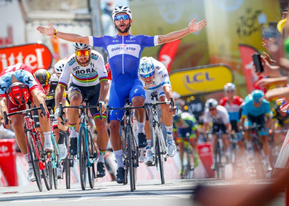 KLARTE IKKE Å STANSE GAVIRIA: Og deretter takket Peter Sagan nei til å bære grønn trøye på søndagens etappe. FOTO: Heiko Junge/Scanpix