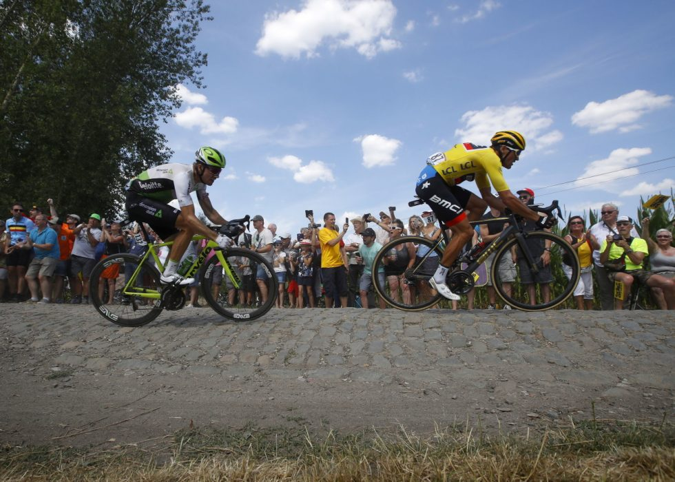 HANG IKKE MED: Både Boasson Hagen og Kristoff kom til kort på den 9. etappen i Tour de France lørdag. EPA/KIM LUDBROOK