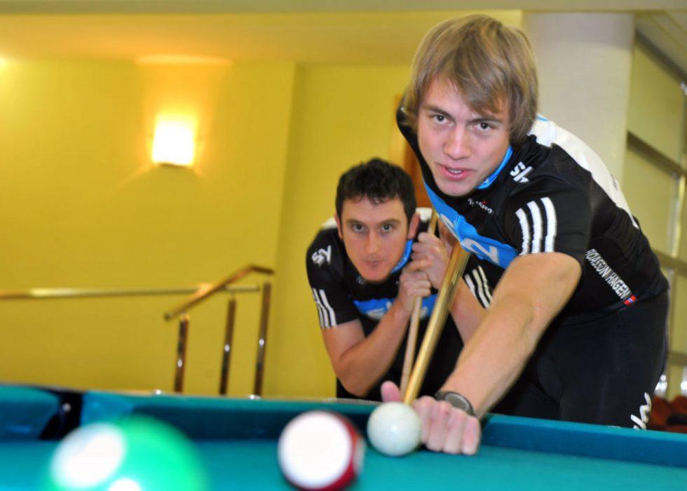 DEN LANGE DISTANSEN: Geraint Thomas og Edvald Boasson Hagen ble begge hentet til Team Sky foran oppstarten i 2010