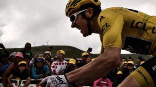 I GULT: Thomas viste seg sterkest av favorittene på den 17. etappen. AFP PHOTO / Marco BERTORELLO
