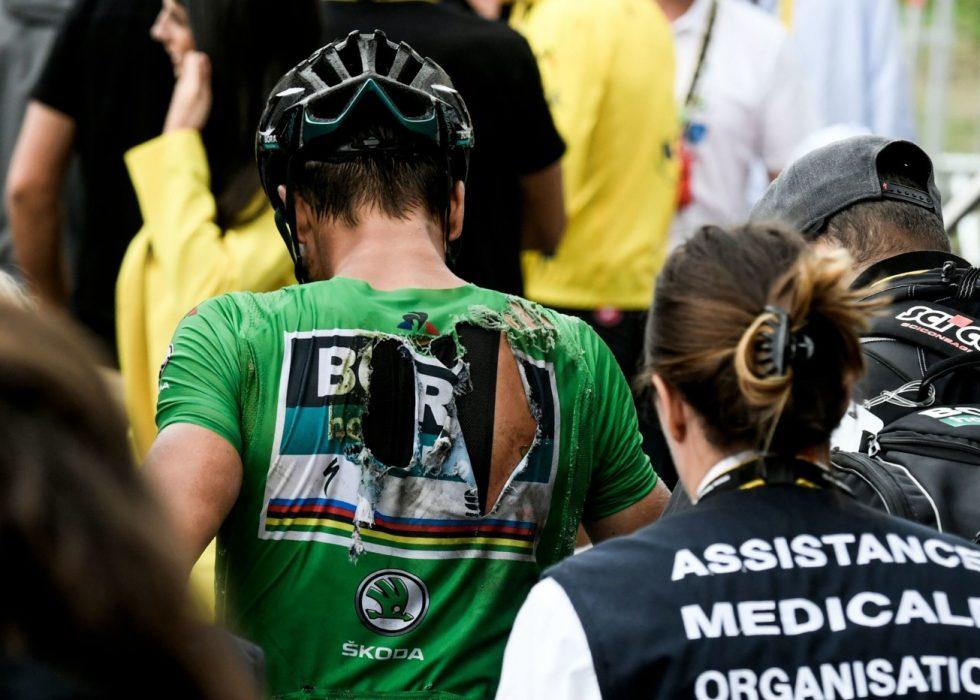 USIKKER: Dersom Sagan (bak i hvitt) bryter i Tour de France
