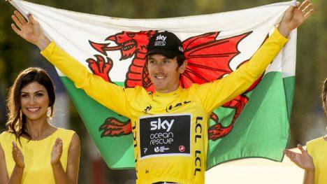 TOUR DE FRANCE: Geraint Thomas vant sammenlagtseieren i årets Tour de France. Foto: Pete Goding/Pa Photos