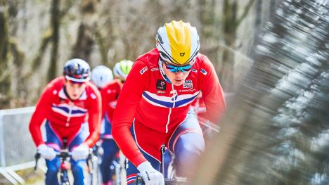 ETT AV TO NORSKE HÅP: Søren Wærenskjold har vunnet internasjonale temporitt tidligere. I dag var han i aksjon under Sykkel-VM i Innsbruck. FOTO: Håkon Mæland