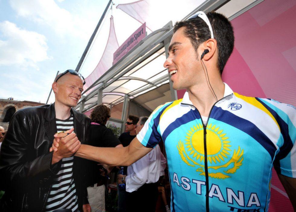 HVOR ER RETTSSIKKERHETEN? Michael Rasmussen (til venstre) reagerer sterkt på at Alberto Contadors tidligere lagkamerat