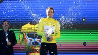 CHAMPAGNESPRUT: Edvald Boasson Hagen kunne juble for seier på første dag av Volta a la Comunitat Valenciana. FOTO: David Ramos/Getty Images