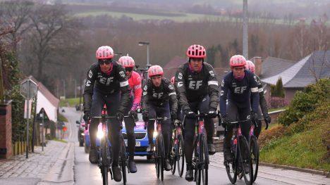 Trening foran Omloop Het Nieuwsblad, Kristoffer Halvorsen, EF Procycling
